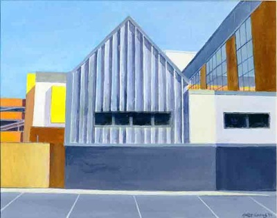 Acrylic painting, Irish Painter, Irish artist, Gary Kearney, Art Gallery, Cork City, White, Orange, Art Online, Spaces,