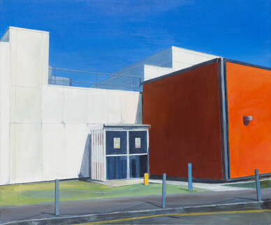 Acrylic painting, Irish Painter, Irish artist, Gary Kearney, Art Gallery, Cork City, White, Orange,