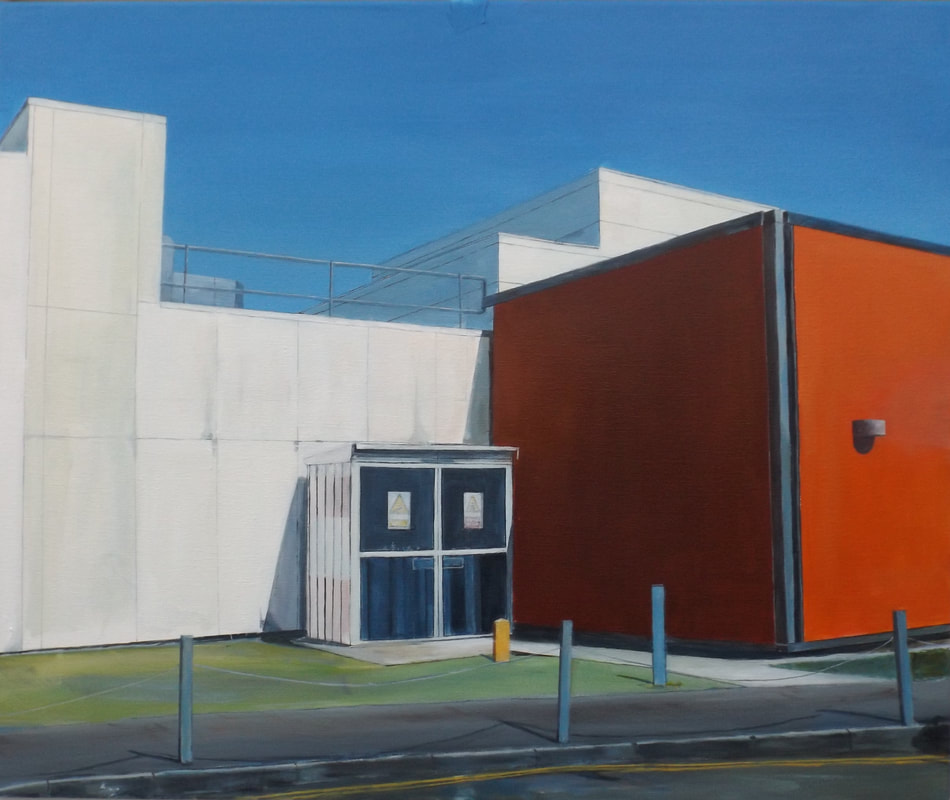 Acrylic painting, Irish Painter, Irish artist, Gary Kearney, Art Gallery, Cork City, White, Orange, Online Art,